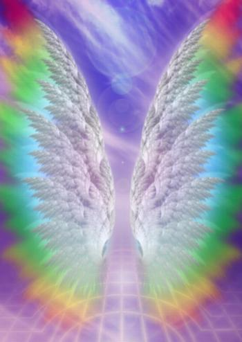rainbow angel wings realm